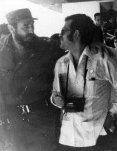 El autor del artículo con Fidel