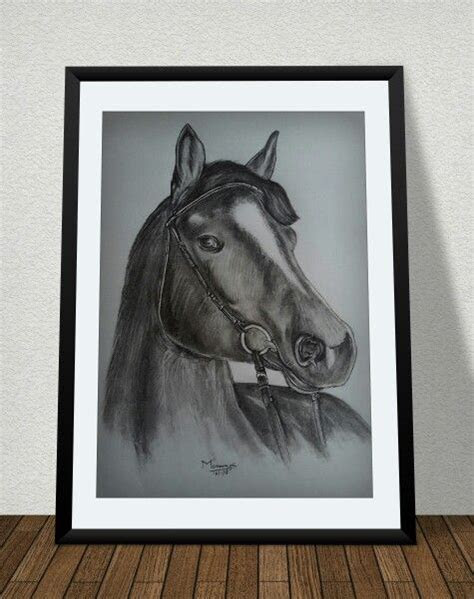 pencil sketch horse  frame pencil drawing