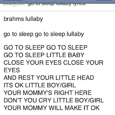 Go To Sleep Lullaby Lyrics