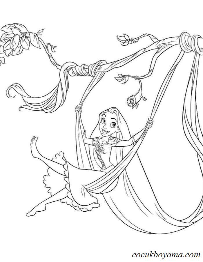 Rapunzel 17 ücretsiz Boyama Resimleri