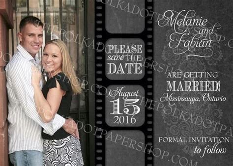 Movie Themed Rustic Style Save The Date Card 0326 ? The