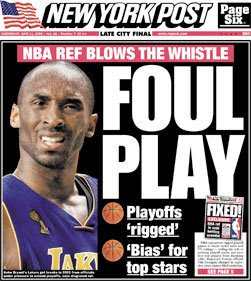 NY Post: Foul Play, NBA Ref blows the whistle, games rigged