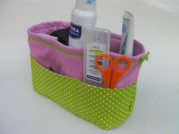 Bag organizer -pink/ green