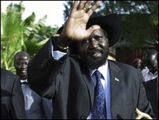 Salva Kiir after election results announced in April