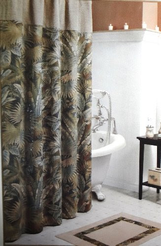 Inexpensive Tropical and Earthy Sherry Kline Calypso Fabric Shower ...