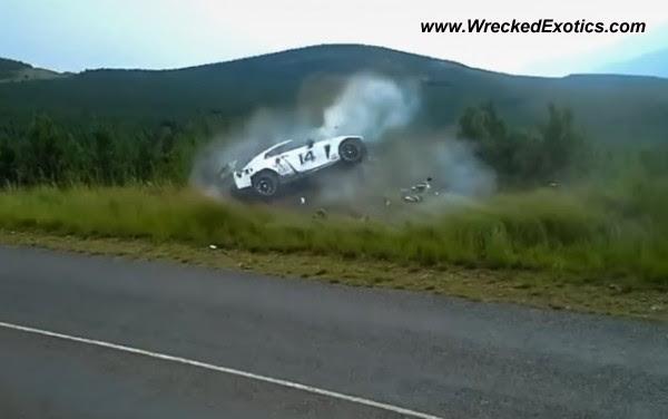 Nissan GT-R Roll-over Crash