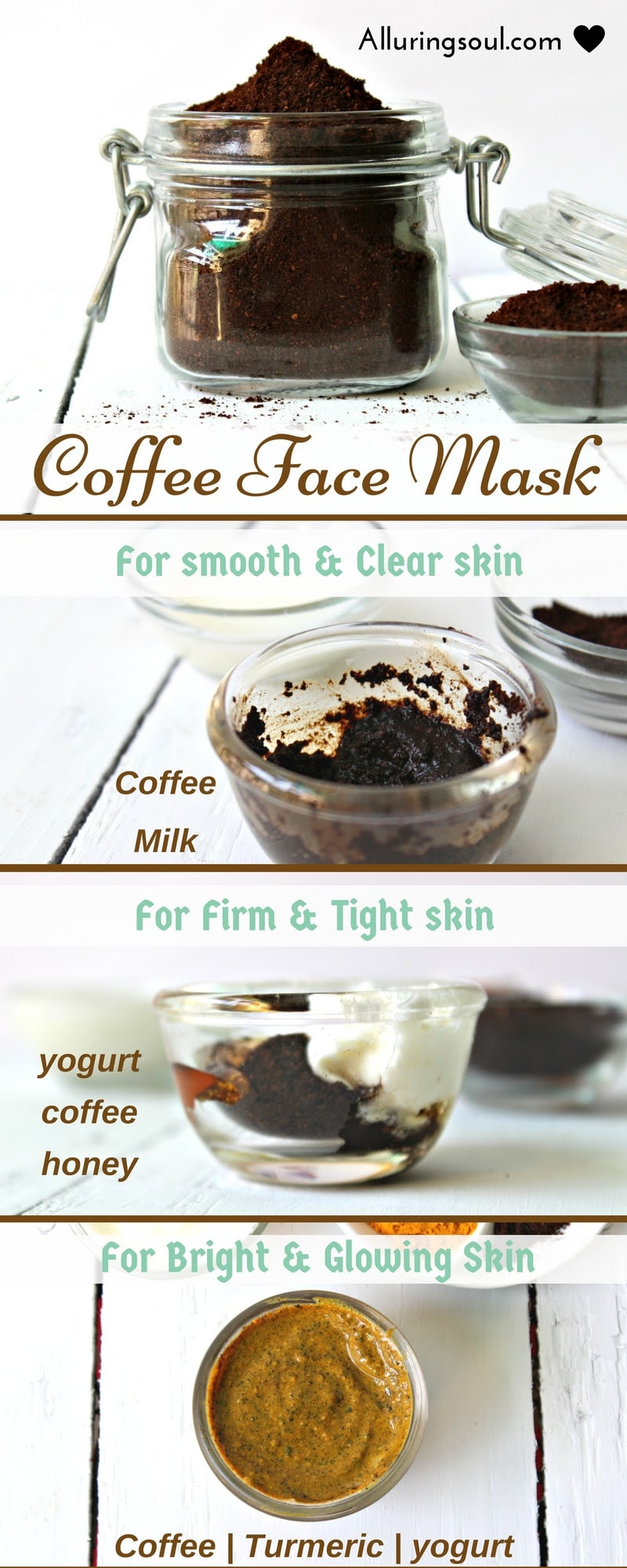 3 Coffee Face Mask For Naturally Clear Beautiful Skin Alluring Soul