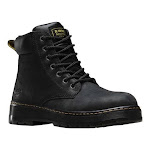 Men's Dr. Martens Work Winch 7 Eye Steel Toe Boot, Adult, Size: 12 M, Black Wyoming Oiled Leather
