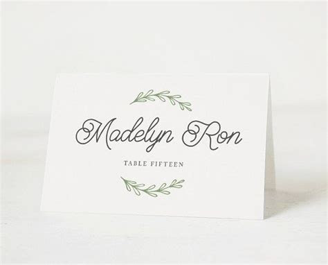 25  Best Ideas about Place Card Template on Pinterest