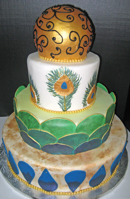 Retired Rental Display cake but and example of a custom wedding display cake
