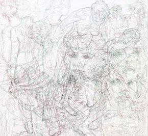 Angel Agrela, ha recibido el Primer Premio de Pintura 2009. Pozuelo de Alarcón. Con la obra titulada Ácrono I, Serie Escaparates vacíos Secuencias