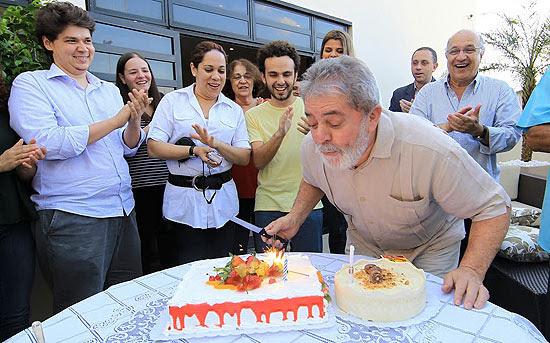 O ex-presidente comemorou seu aniversário no Instituto Lula