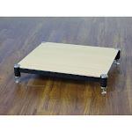 VTI BL404SO-01 BL Series AMP Stand (Silver Cap Black Pole Oak Shelf)