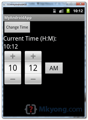 android timepicker demo1