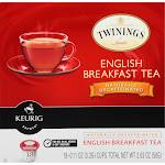 Keurig Twinings English Breakfast Tea K-Cups, Decaf - 18 pack, 2.03 oz box