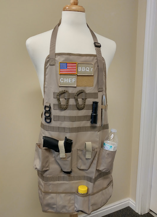 Tactical Ready Apron – BBQ or Shop Apron Holster