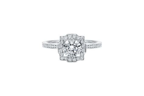 Belle Round Brilliant Engagement Ring   Harry Winston