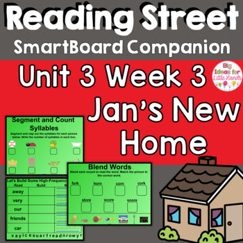 Jan's New Home SmartBoard Companion Reading Street 1st Fir