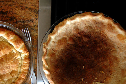 burned pie crust
