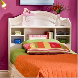 How Bookcase Headboards Solve Kids Bedroom Storage Issues | blog.