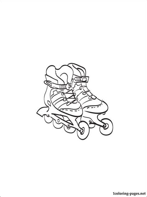 roller skates coloring page coloring pages