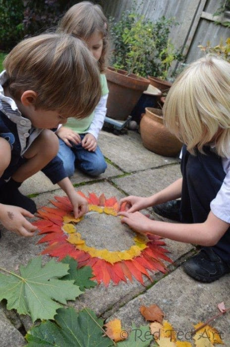 Andy Goldsworthy for Kids - a fun Autumn projects for kids