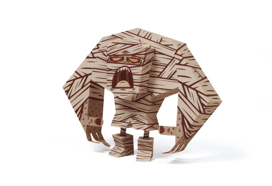 Tougui Mummy Paper Toy