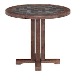 Home Styles Morocco Round Dining Table in Wire Brushed - 5601-32