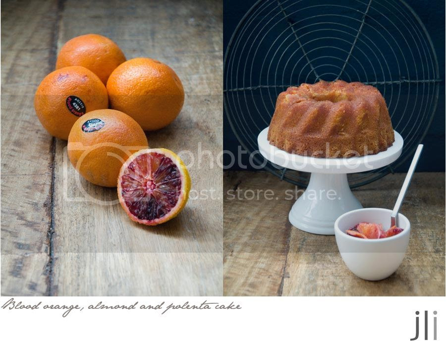 blood orange almond and polenta cake