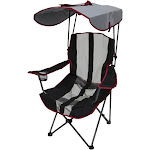 Kelsyus Premium Foldable Outdoor Lawn Camping Chair w/Cup Holder and Canopy by VM Express