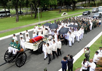 COMPLIED. The Armed Forces of the Philippines succeeds in giving the Marcos family a peaceful ceremony away from protesters. Photo from Marcos Presidential Center