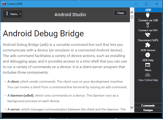 CustomADB offers Shortcuts, Integrated Tools, and an Enhanced UI for Windows