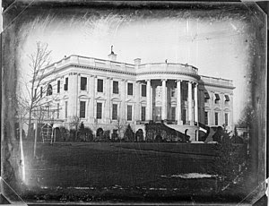 Daguerrotype of the south front of the White House