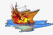 Kapal Terbakar di Karimunjawa Tenggelam Beserta Puluhan Kendaraan Milik Penumpangnya