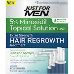 Just For Men Hair Regrowth Treatment, Extra Strength - three 60 ml (2 fl oz) bottles