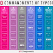 The 10 Commandments of Typography | Visual.ly