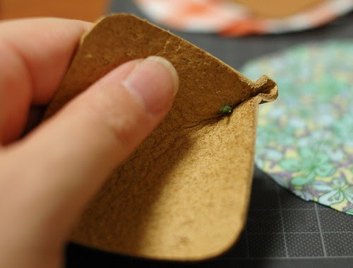 How to make a leather bottom pincushion 11