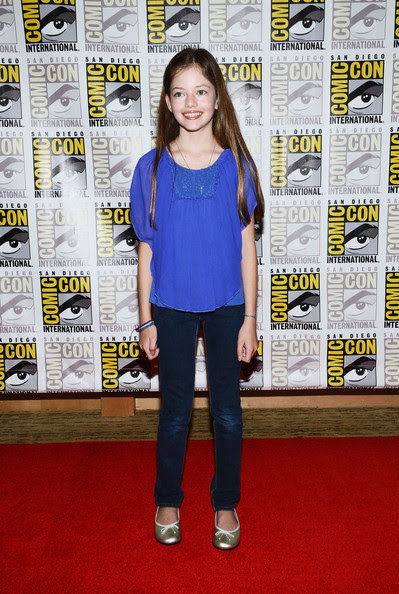 "Mackenzie Foy Actress Mackenzie Foy attends ""The Twilight Saga: Breaking Dawn Part 2"" during Comic-Con International 2012 at San Diego Convention Center on July 12, 2012 in San Diego, California."