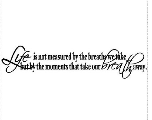 Home Decor Life Is Not Measured By The Breaths We Take But By The