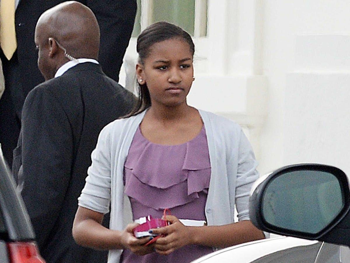 AGE 13: Sasha Obama