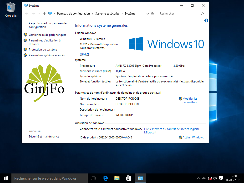 Windows 10 / Installation