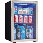 """Danby DBC026A1BSSDB 95-Can Drinks Chiller - 17.5"""" - 2.6 cu ft - Stainless Steel"""