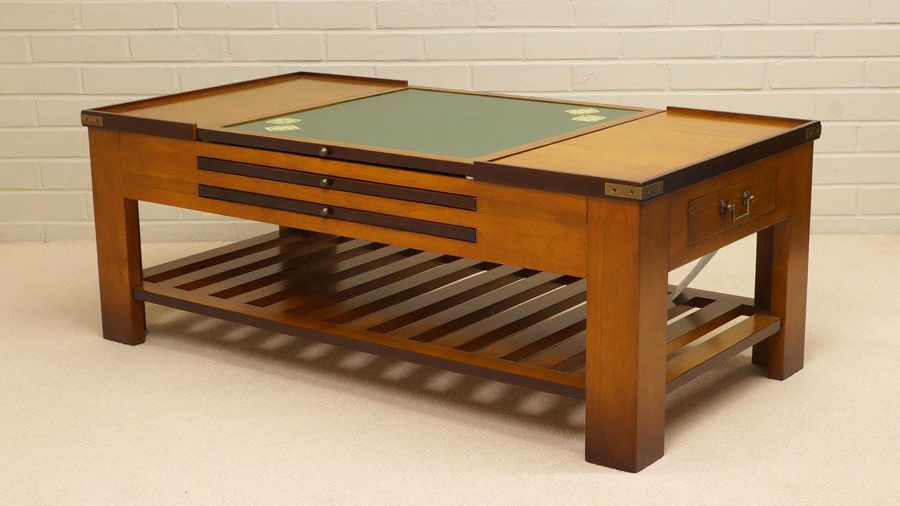 Cherrywood Game Coffee Table   GHShaw Ltd