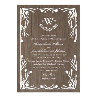 Rustic Country Monogram Wedding Invitation