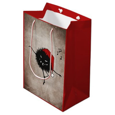 Dark Evil Christmas Bug Small Gift Bag