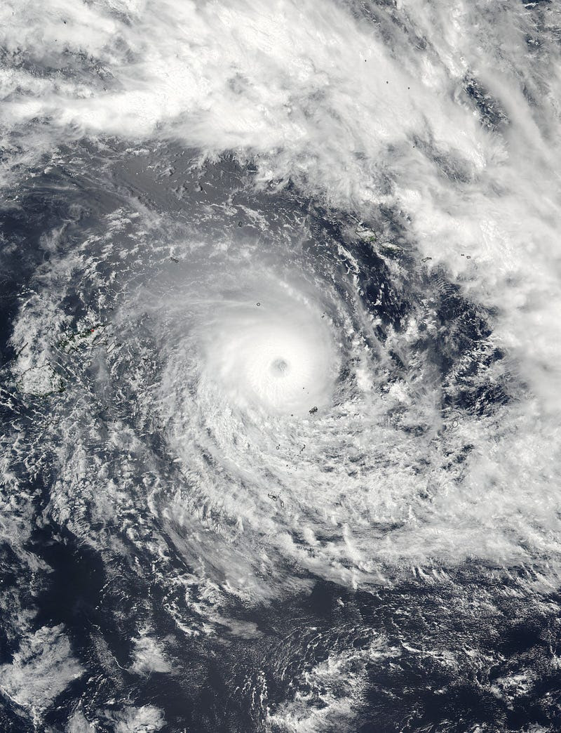El ciclón Winston es la mayor tormenta registrada hasta ahora en el hemisferio sur