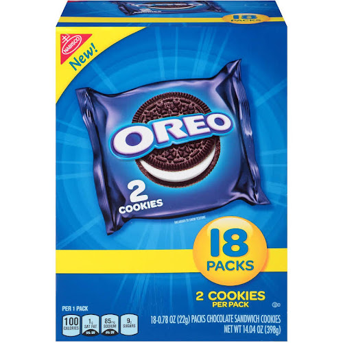Oreo Chocolate Sandwich Cookies - 18 count , 0.78 oz packs