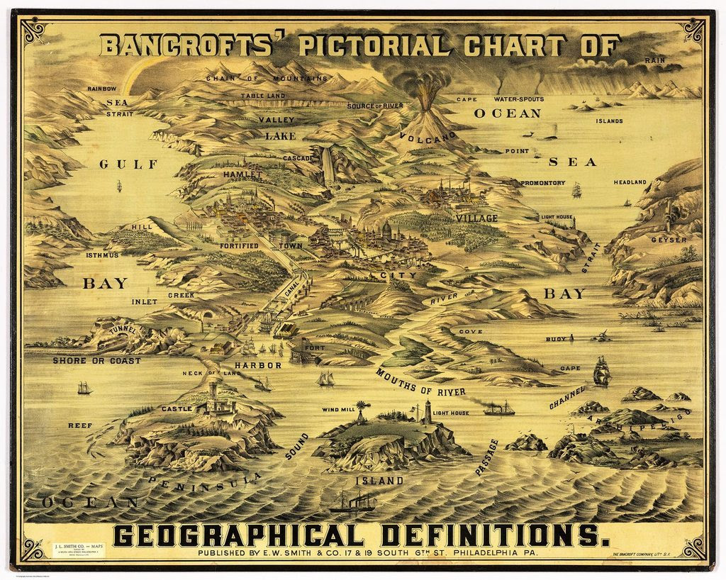 Map of Geographical Definitions circa 1870 [1400x1118]CLICK HERE FOR MORE MAPS!thelandofmaps.tumblr.com