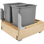 Rev-A-Shelf 4WCBM-2430DM-2 Double 30-Quart Bottom Mount Pullout Waste Container at Spreetail (VMinnovations | VM Express)