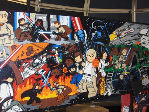 Star Wars wall mosaic made entirely of Lego